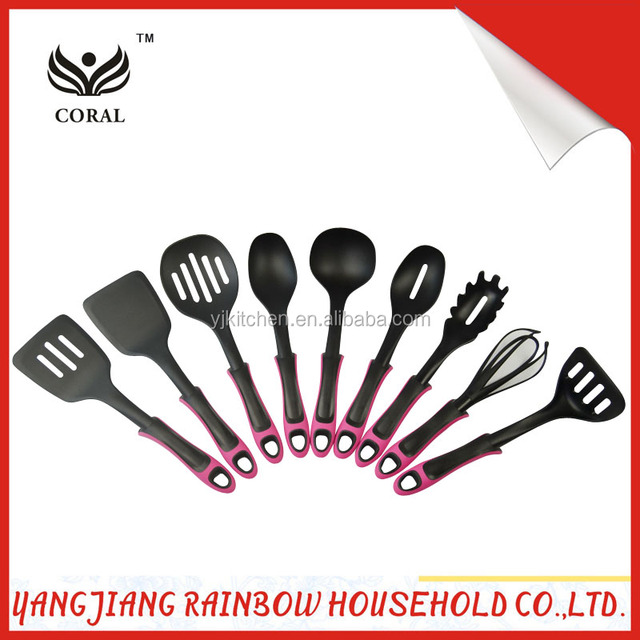 9 pieces colorful kitchen utensils set