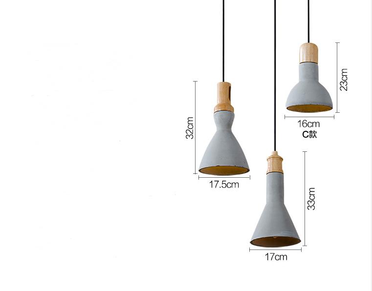 home living grau beton pendelleuchte eiche holz h ngen lampenschirme buy friseur lampen. Black Bedroom Furniture Sets. Home Design Ideas
