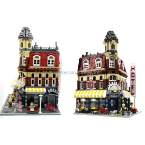 Lepin New Toys! 2133 PCS coffee bar building model city street lepin 15002 blocks toys