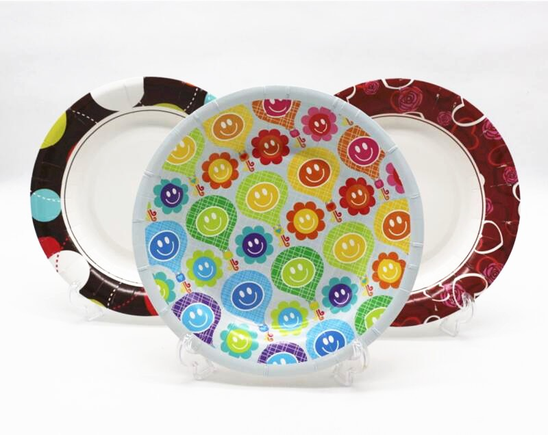 custom printed paper plates Custom printed paper plates wholesale: browse our plates and trays and speak with our us-based customer service today we print your logo or design low minimums, fast.