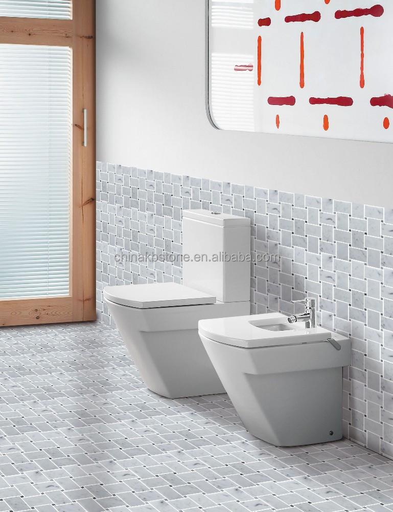 Blanco de carrara marmol mosaico ba o de pared y suelo de for Marmol de carrara para cocinas