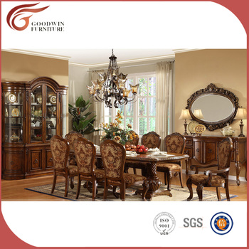 Antique Luxury Solid Wood Dining Room Furniture South