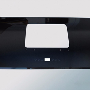 Custom tempered 60cm Flat Glass black printed for Cooker Hood Extractor Fan