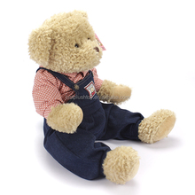 Hot sale plush and stuffed animal toy in different colour,cute soft plush uniform teddy bear
