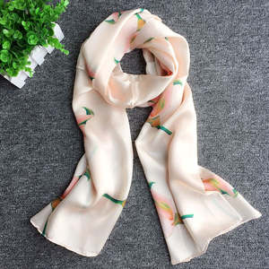 100% Silk Women Large Long Scarf Dhaka Shawl Style