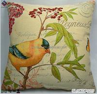 100% polyester yarn dyed jacquard cushion cover Bird printed cushion 45cm*45cm 350GSM