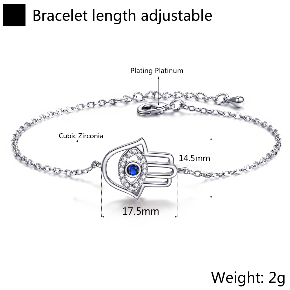 New Design Adjustable Jewelry Stainless Steel Chain Eye Bracelet