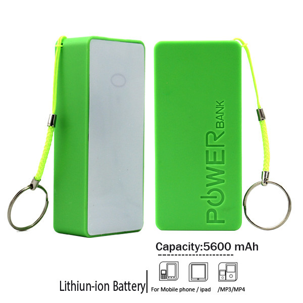 Cheap price promotion gift large capacity portable mobile phone power bank 5600mah for iphone samsung