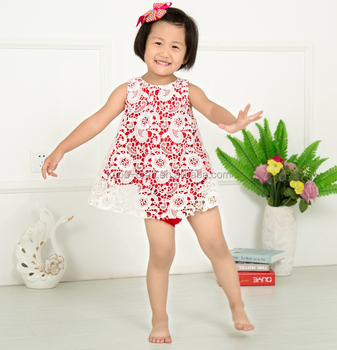 latest style boutique lace swing outfits kids clothing cream color baby  swing set for infants b13f428ac