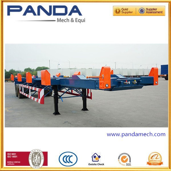 Panda 2 axle bomb cart semi trailer bomb-cart semi trailer yard semi trailer with mechanical suspension