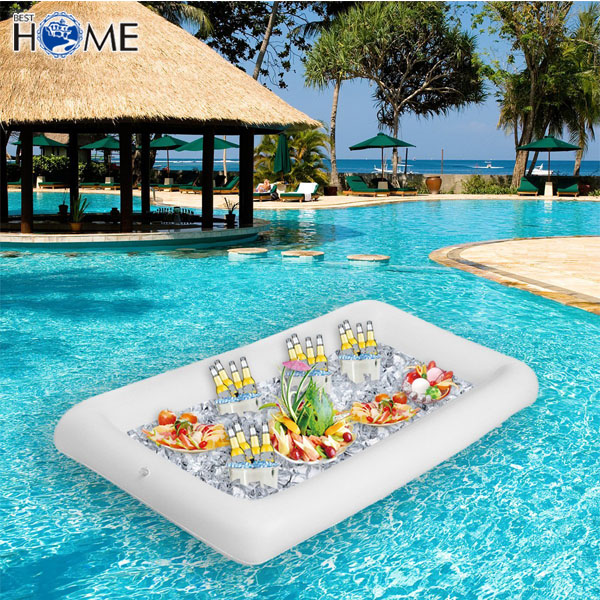 blanc buffet refroidisseur de glace flottant piscine salade gonflable bar servant buy product. Black Bedroom Furniture Sets. Home Design Ideas