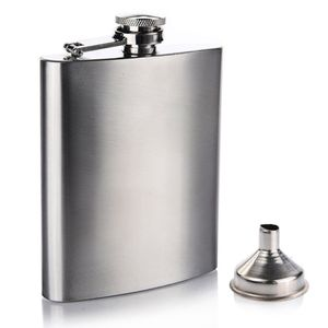 8oz Stainless Steel Pocket Hip Flask 7oz stainless steel hop flask with funnel set , 5oz wine flask bottle