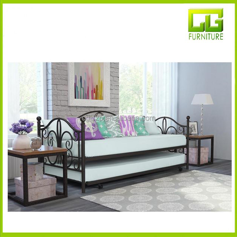 Modern Hot Selling Metal Iron Trundle Daybeds