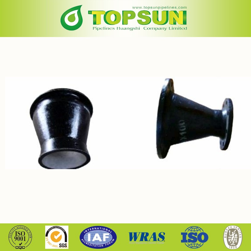 ductile iron black flange taper