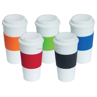 Idea product plastic thermos travel coffee mugs with lid 16oz wholesale china suppliers