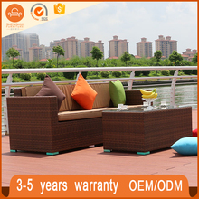 Hot products high quality fashion wicker sofa set white low price garden furniture sofa design