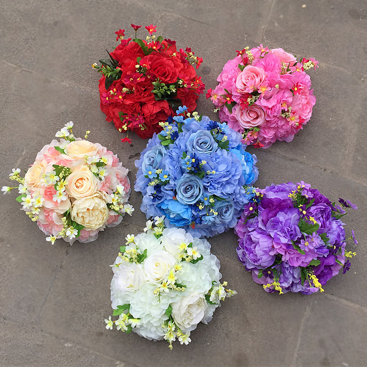 Multicolor wedding banquet road champagne customized artificial <strong>flower</strong>