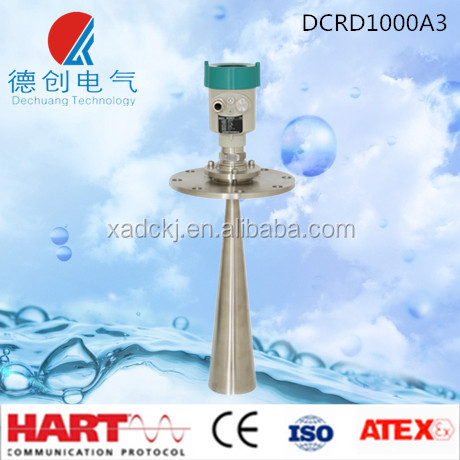 Dechuang DCRD1000A3 Non contact Radar Level Transmitter for level measurement of <strong>coal</strong>, cement, powder etc