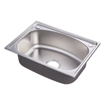 5641 Standard Size Flexible Durable Single Bowl 201stainless Steel Kitchen Sink With Drain Board Stainless