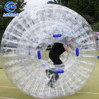 Plastic snow land zorb ball inflatable human sized hamster ball for bowling
