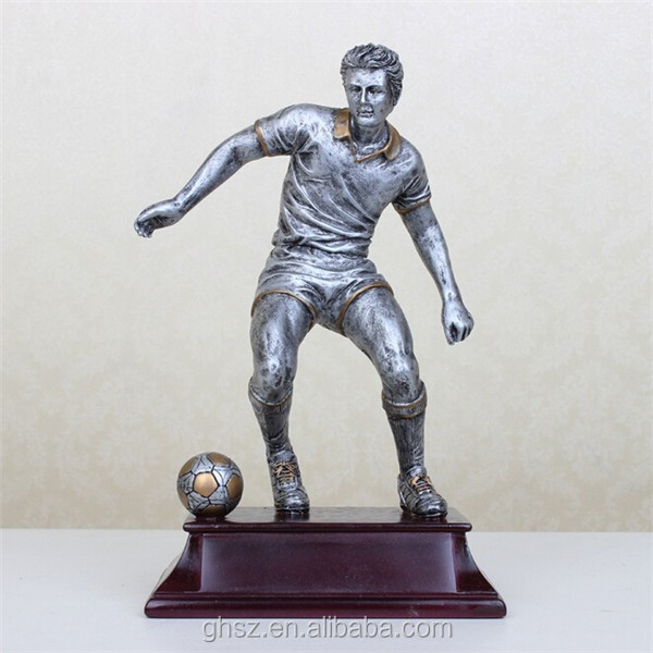 customized home decor football player action statue for wholesale