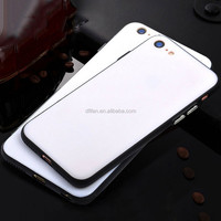 DFIFAN tpu+pc 2 in1 blank phone case for iphone 6 7, color frame transparent mobile case for iphone 6 7 case back cover