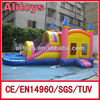 Naughty inflatable combo slide jumper with pool