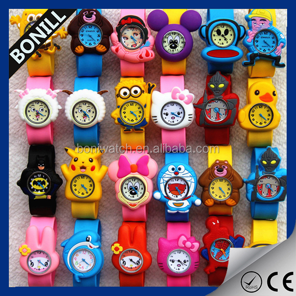 New 3D silicon cartoon kids watch for boys and girls electronics wrist watches