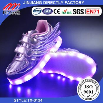 Baby Shoes Boys Girls Usb Charging Led