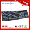 Red Blue Purple LED Backlit compact style mechanical gaming keyboard for PC Desktop