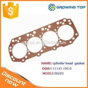 Hot sale in Middle east/African 1-11141-195-0 cylinder head gasket for ISUZUb
