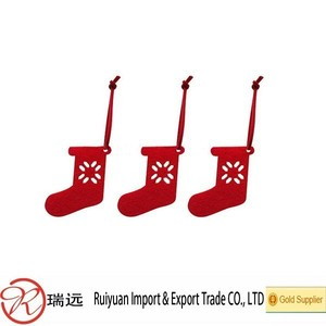 Novelty Stocking shaped felt Christmas tree decoration Manufacturer in China