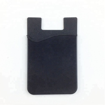 Silicone Phone Card Holder 3M Adhesive Business Credit Card Wallet Phone Case Pouch Sleeve Pocket for Most Smartphones