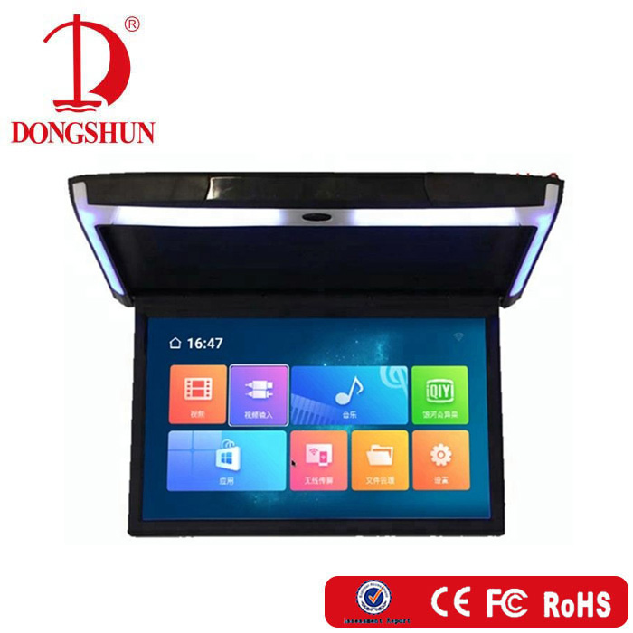 New Bus Roof Monitor 15 6 Inch Ips Screen Android Flip Down Car Monitor  With Mirror Link,Hdmi - Buy Flip Down Monitor,Bus Roof Monitor,Car Monitor