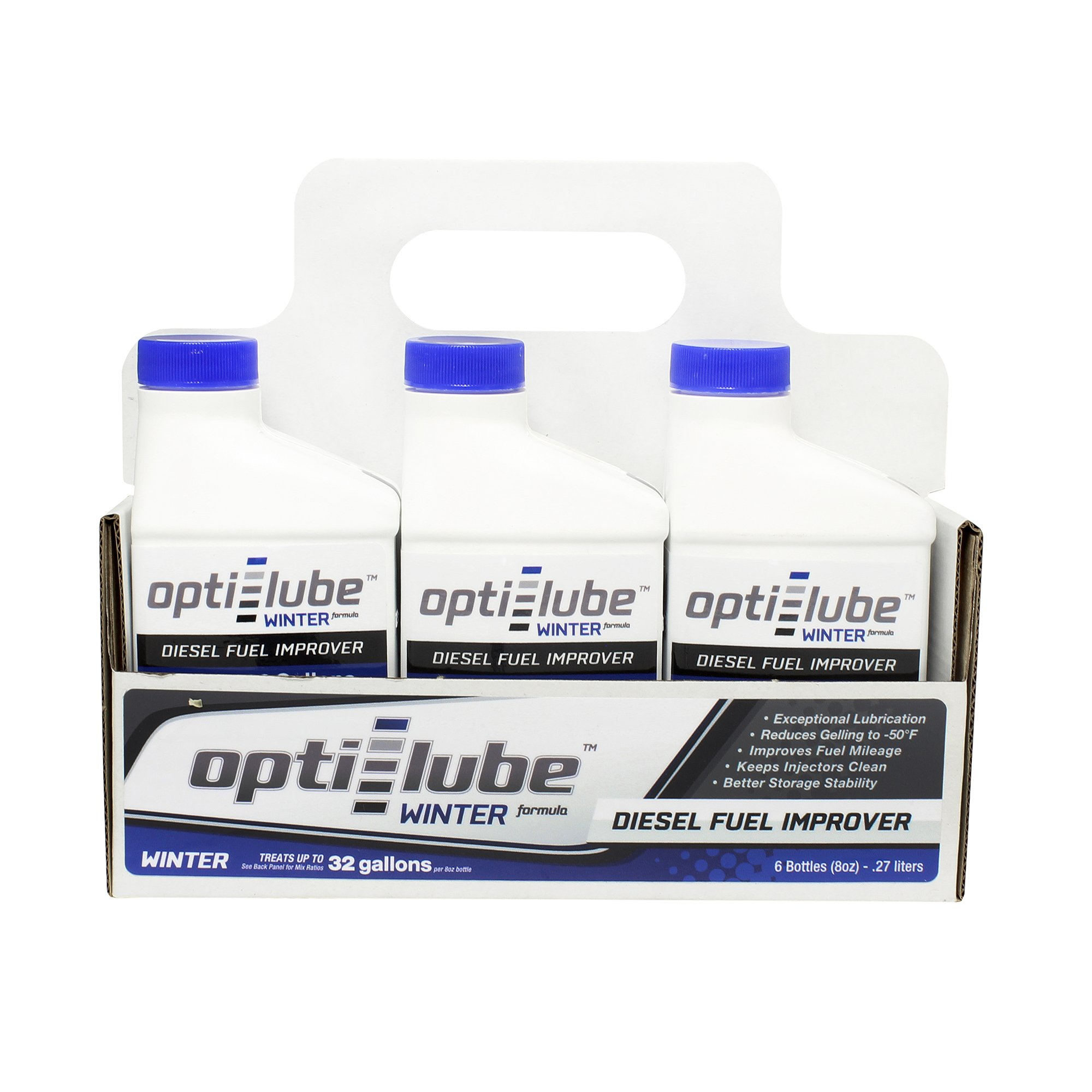 Opti-Lube Winter Formula Diesel Fuel Additive: 8oz 6 pack Treats up to 32 Gallons per 8 oz bottle