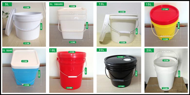 Tamanho diferente plástico balde fabricação na China