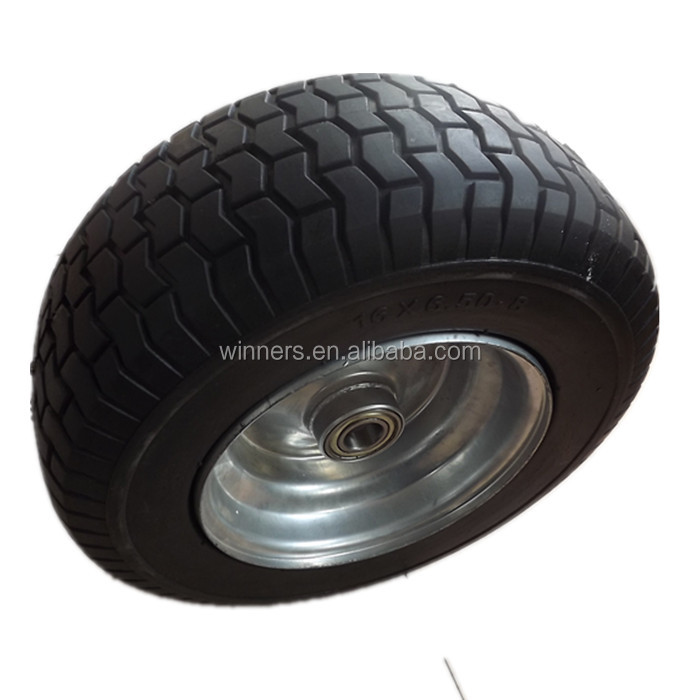 16 x 6.50-8 Extra Wide Wheelbarrow Wheel