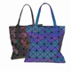 6x6 Geometric Female Tote Bags Luminous Hand Bag Night See Designer Handbag Women