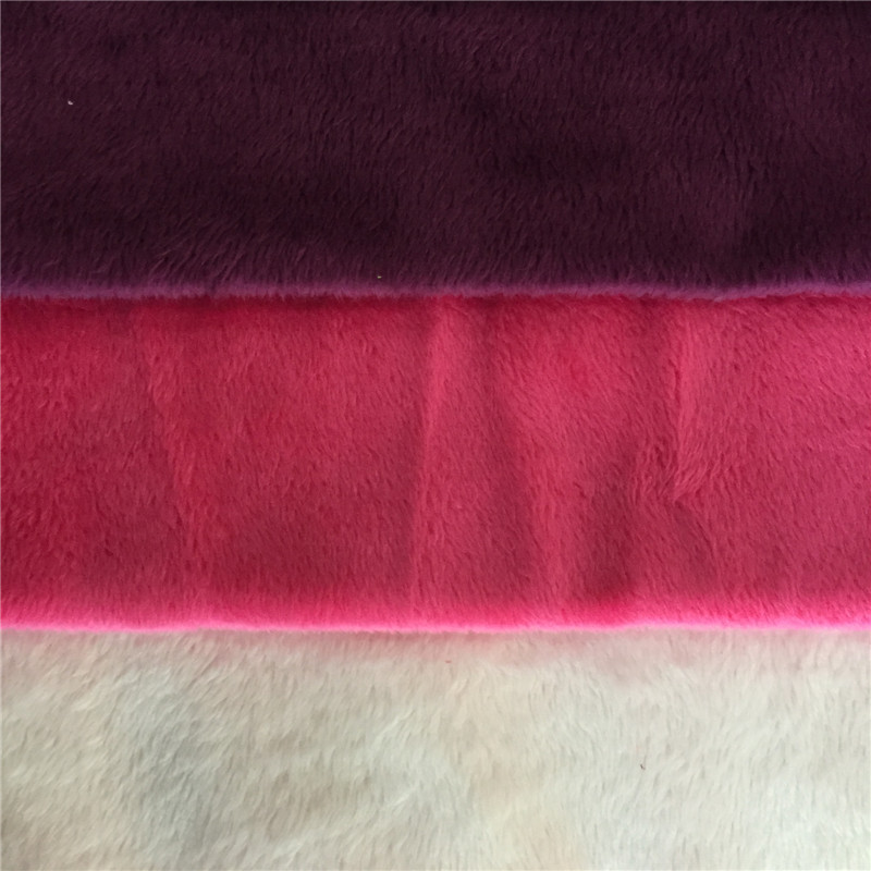 warp knitted super soft velboa fabric