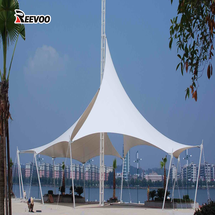 1000D 30*30 900g pvc coated panama canvas tensile fabric for greenhouse membrane structure