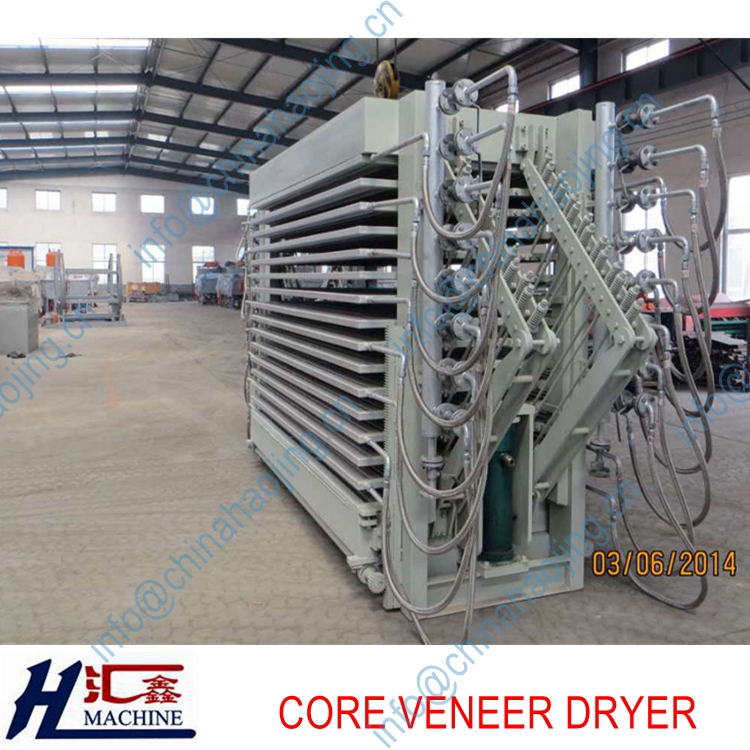 hot press type wood veneer drying machine/core dryer in linyi city china