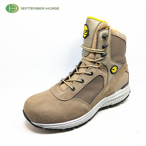 Lace-up Suede Leather Work Boots Men Tan Winter Light Weight Boots