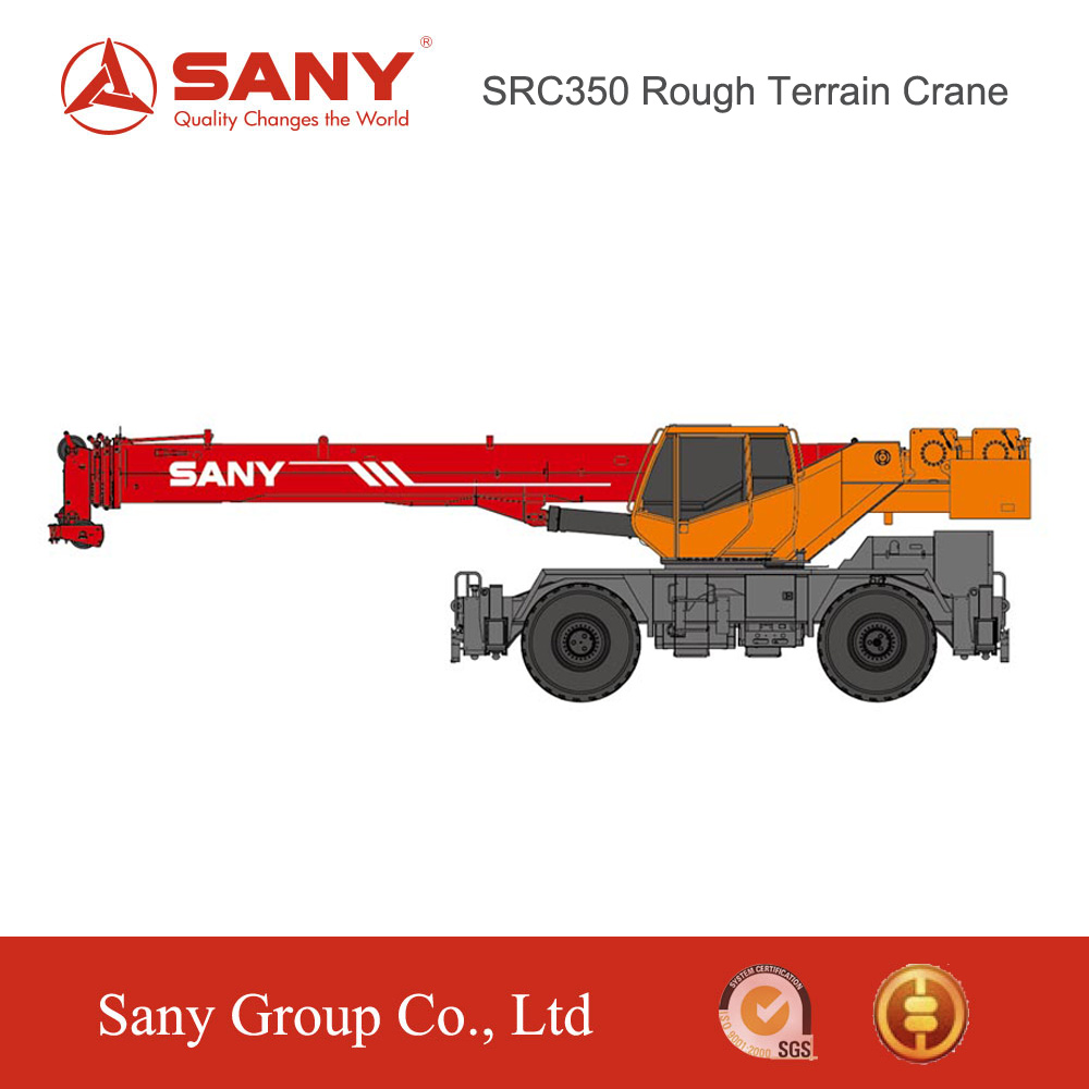 SANY SRC350 35 Tons Full-Extend Boom+Jib 45.2 M Rough-terrain Truck Mounted Crane Used in Unit State