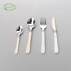 Chinese professional fork and knife flatware eco friendly wrapped plastic disposable cutlery sets