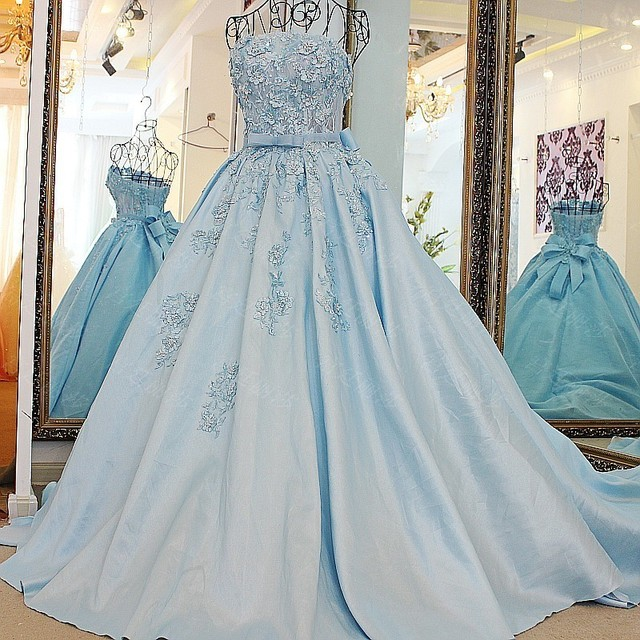 cd10d8831e3 LS67128 Real removable band belt ball gown strapless short puffy prom  dresses fat evening latest long