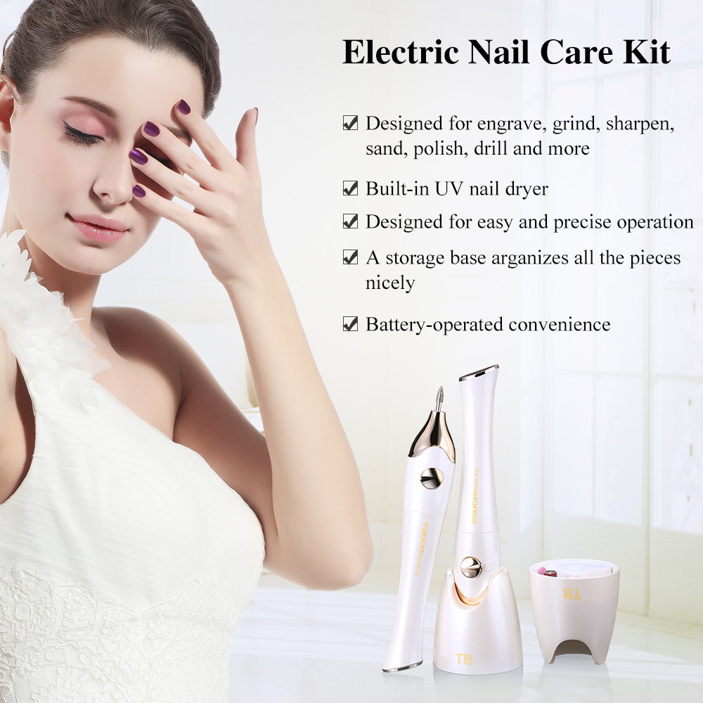 Professional Girls Beauty Nail File Electric Nail Manicure Pedicure Set
