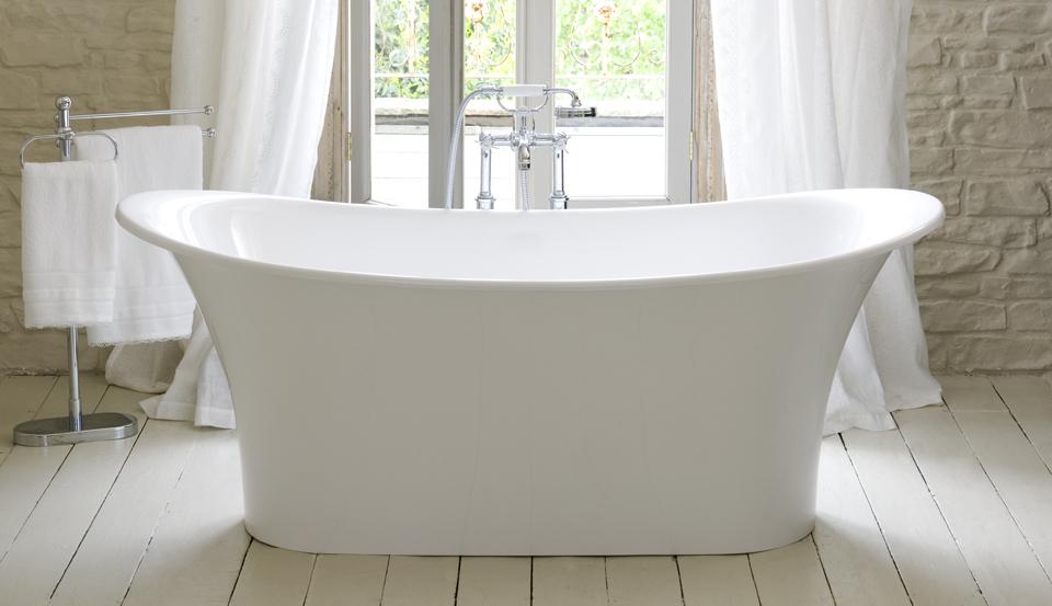 Decoración del hogar de lujo hotel baños de piedra bañera de ...