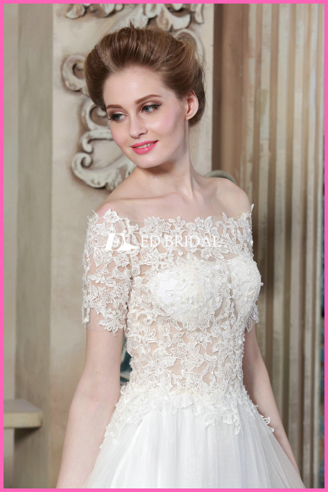 ce1497 shoulder a line see through corset lace malaysia