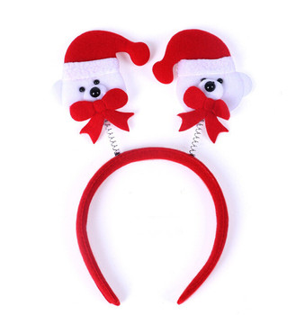 2017 New Xmas Red Christmas Headband Girls Santa Claus Hair Band Christmas  Dress Hair Decorations Regalos 3bfb5a7c459