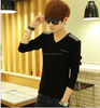 2015 new fashion korean style v-neck t shirt for boys and students